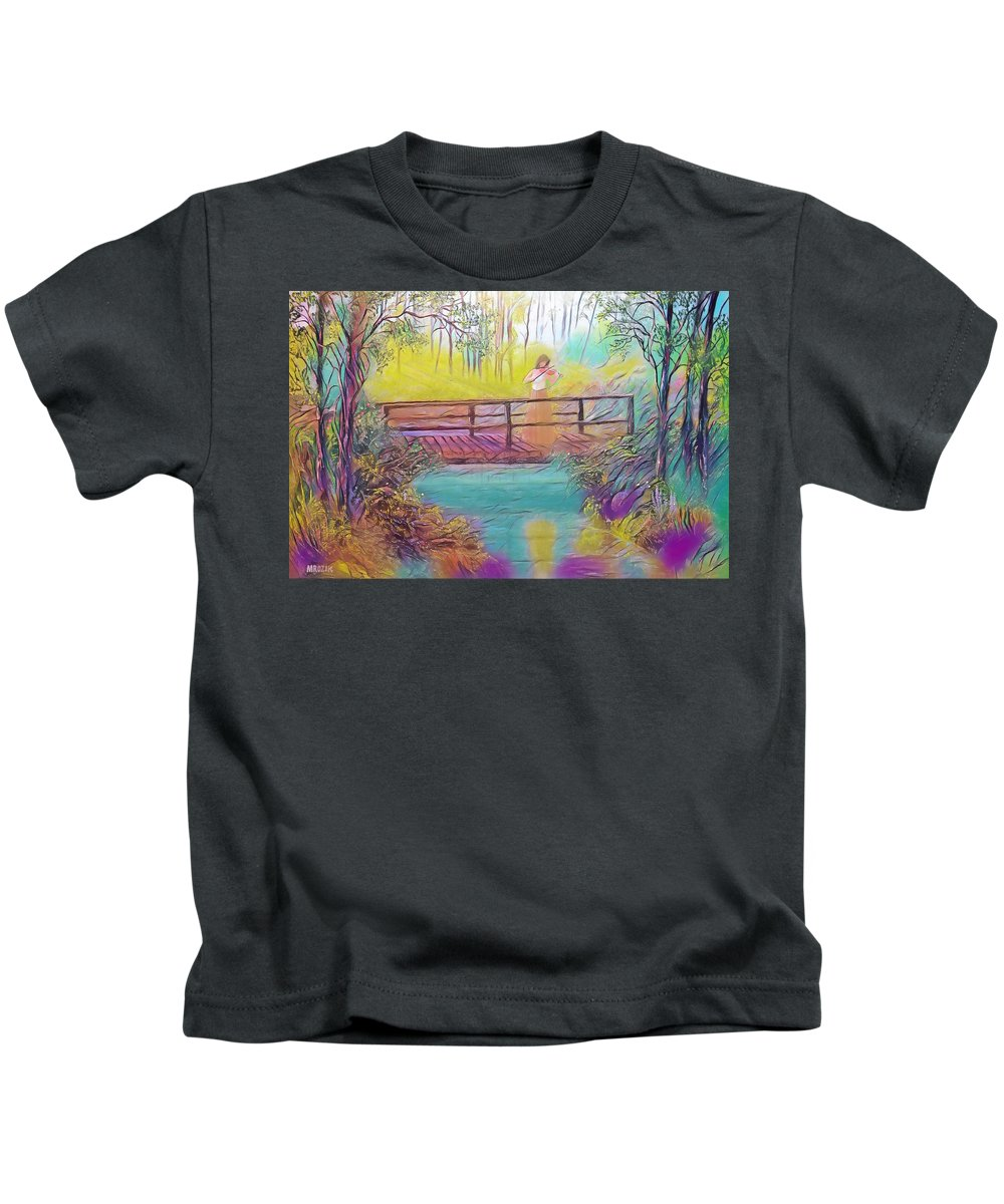 Violin Kids T-Shirt featuring the painting Harmany by Michael Mrozik