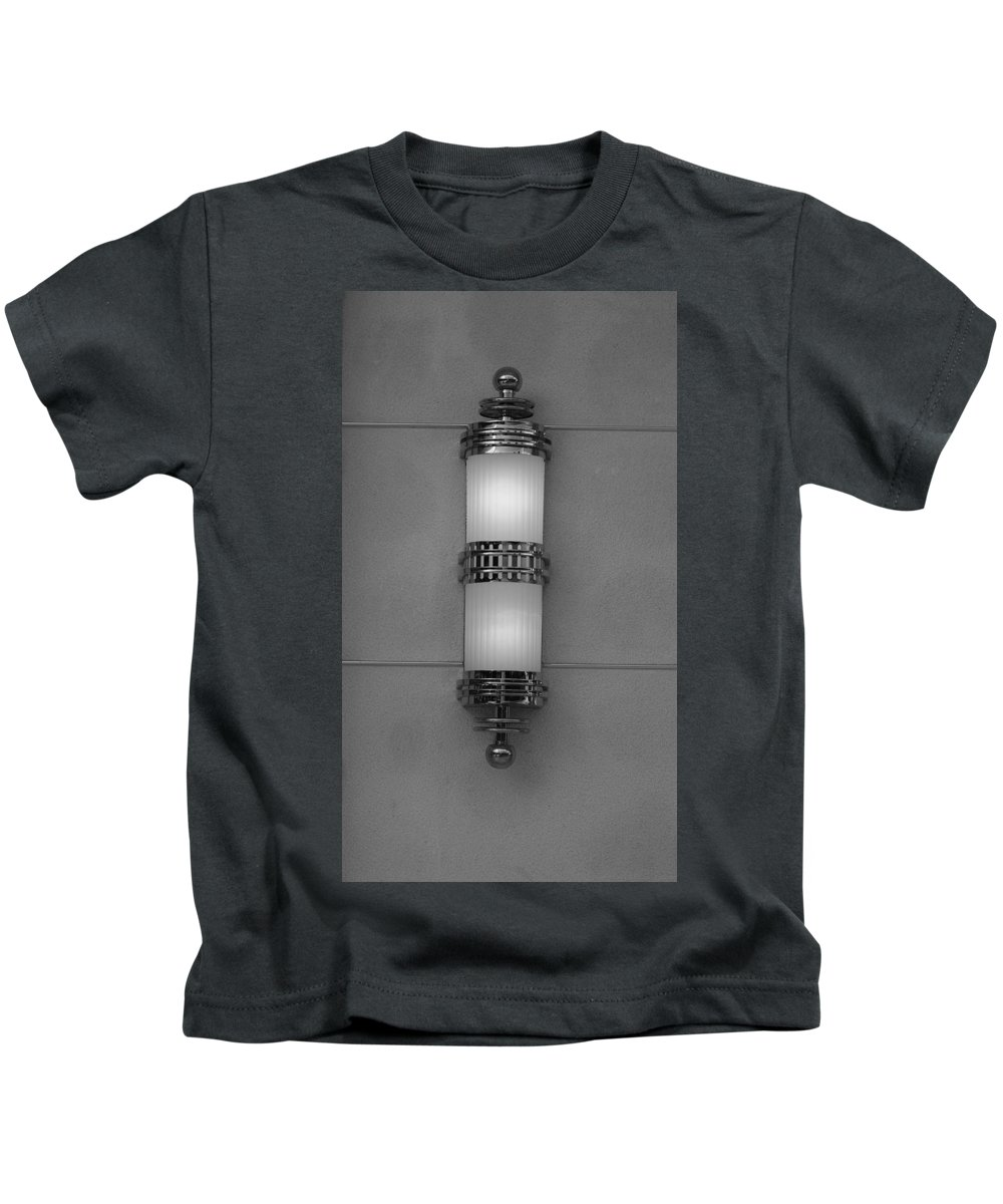 Sconce Kids T-Shirt featuring the photograph Lighted Wall Sconce by Rob Hans