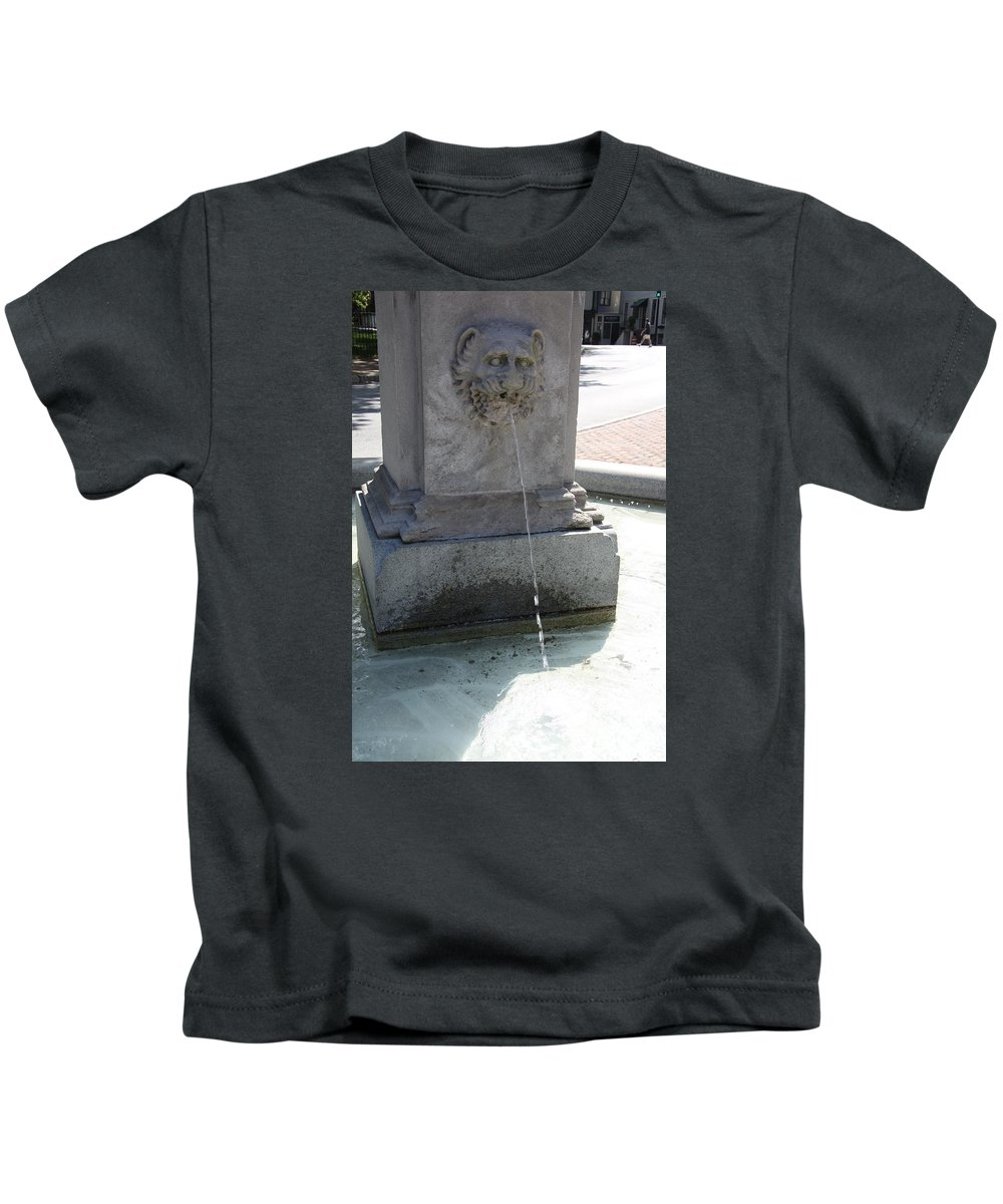 Fountain Kids T-Shirt featuring the photograph Lion Fountain by Christiane Schulze Art And Photography