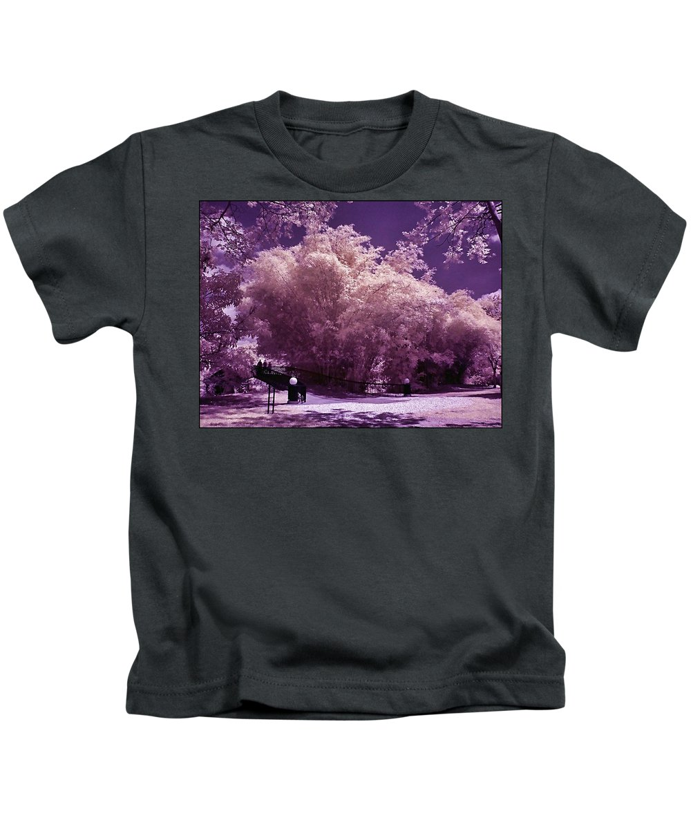 Landscape Kids T-Shirt featuring the photograph Magic Garden by Galeria Trompiz