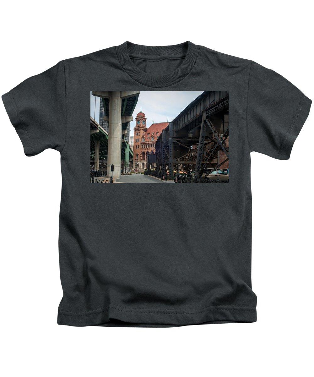 Crowded Kids T-Shirt featuring the photograph Main Street Station - Richmond Va by Alex Grichenko