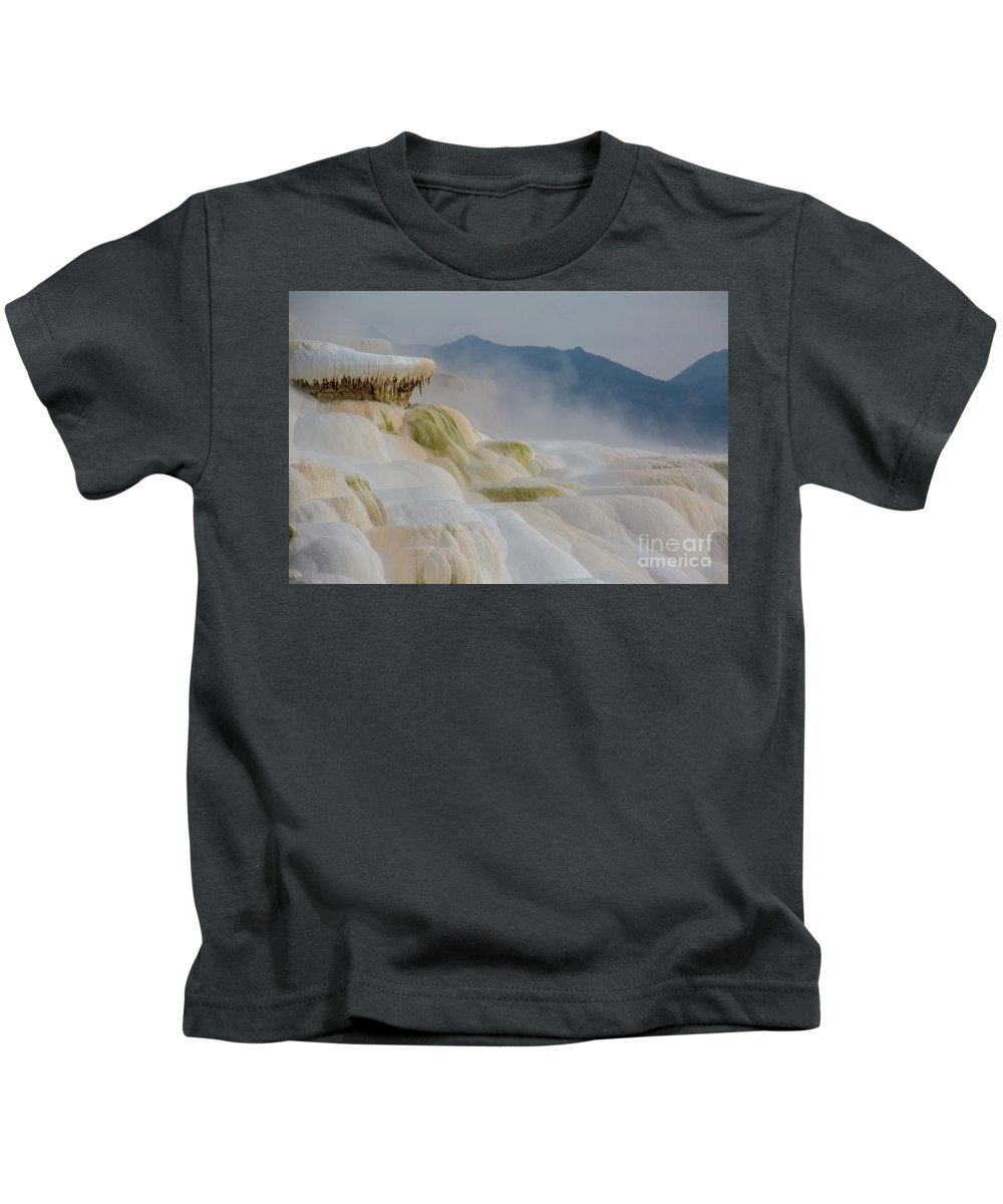 Mammoth Hot Springs Kids T-Shirt featuring the photograph Mammoth Beauty by Carolyn Fox