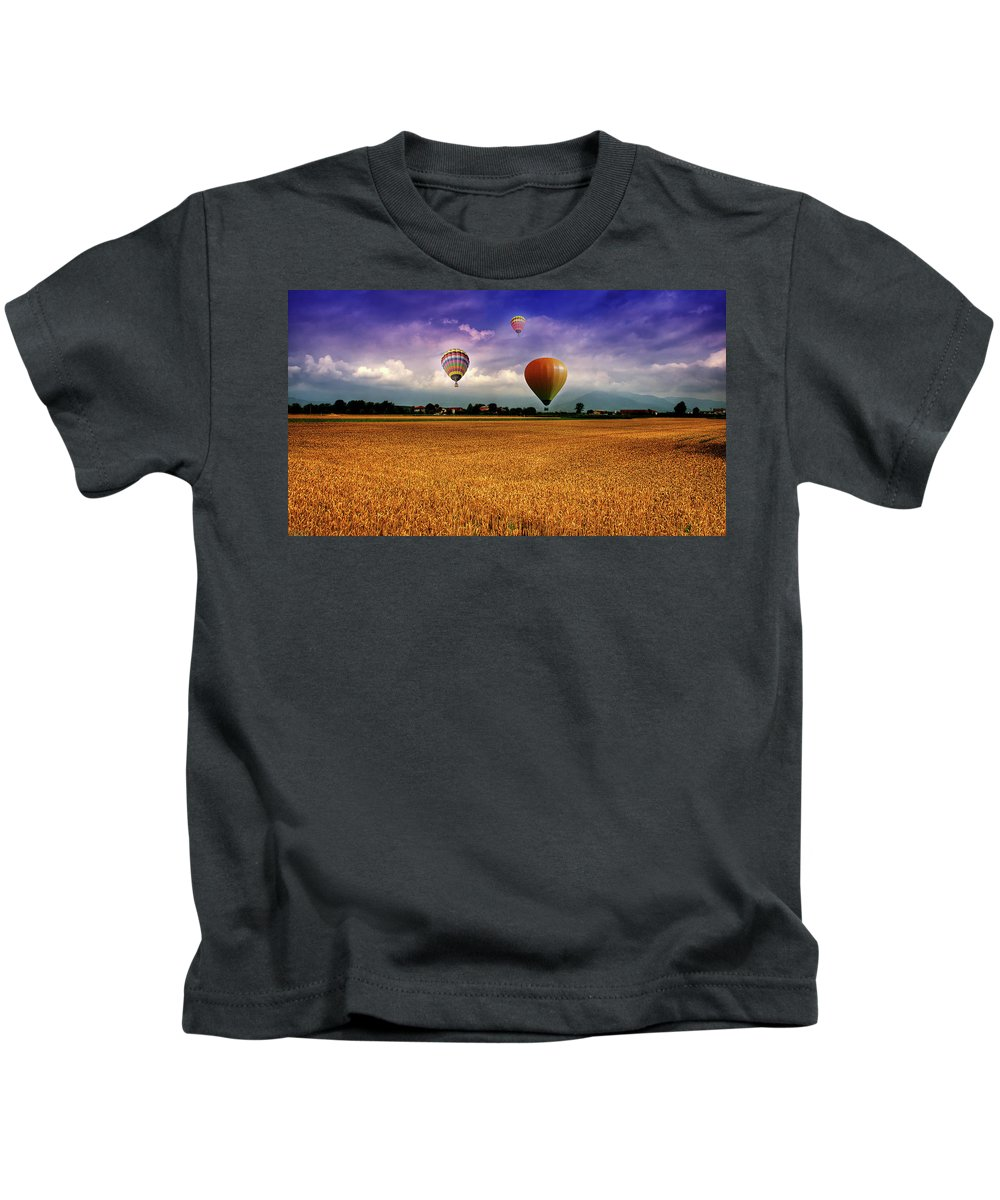Manipulation Kids T-Shirt featuring the digital art Manipulation by Dorothy Binder