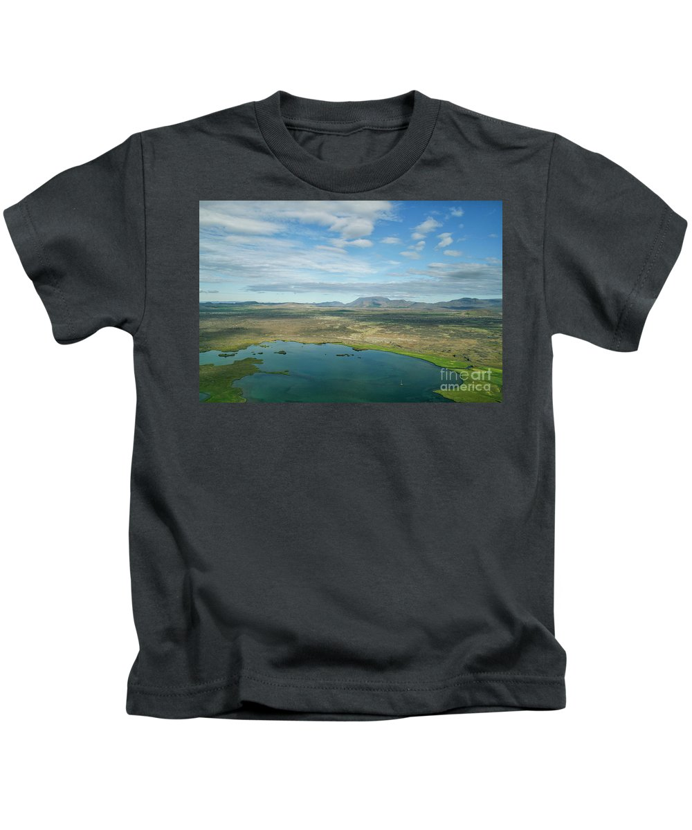 Myvatn Kids T-Shirt featuring the photograph Beautiful Myvatn, Iceland by Patricia Hofmeester
