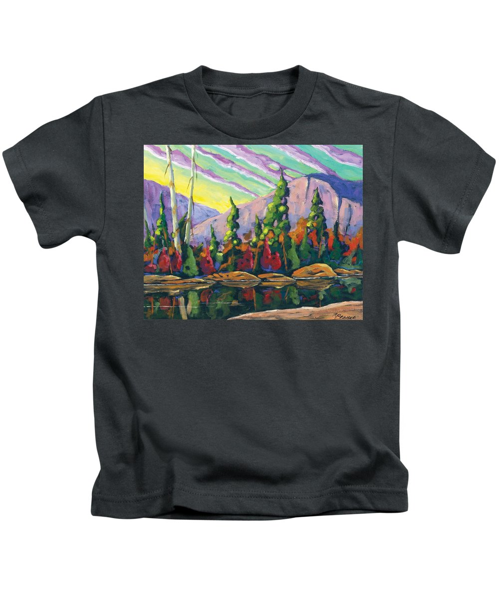 Art Kids T-Shirt featuring the painting Nature Expression by Richard T Pranke
