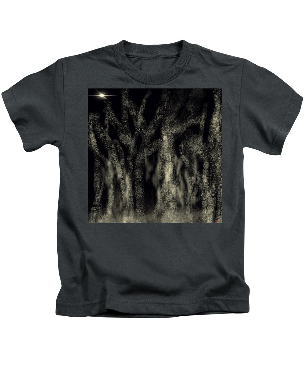 Trees Kids T-Shirt featuring the painting Night by Bill Minkowitz