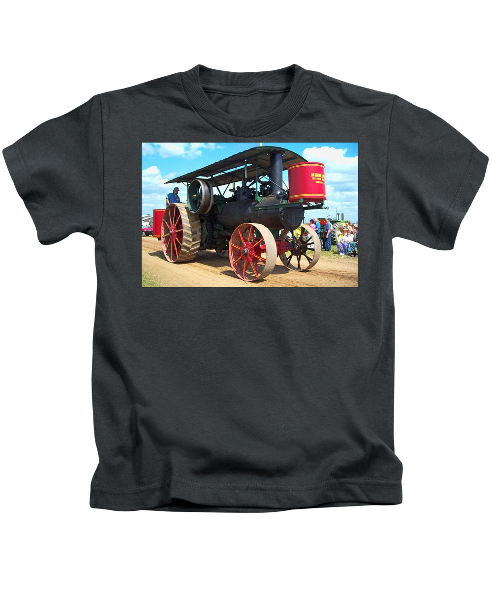 Farming Kids T-Shirt featuring the photograph Old Timer by Tommy Anderson