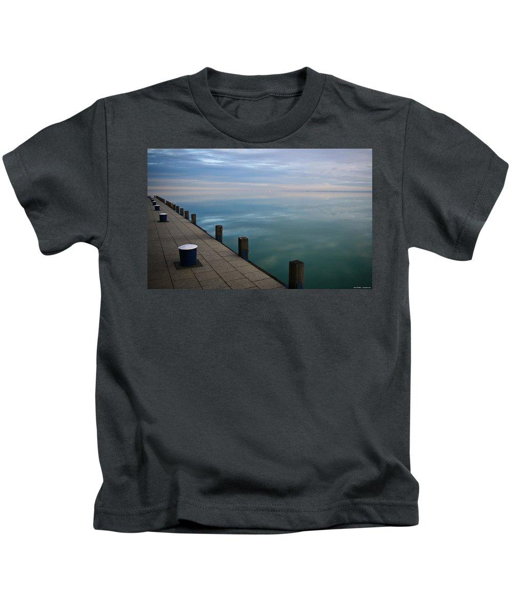 Pier Kids T-Shirt featuring the digital art Pier by Dorothy Binder