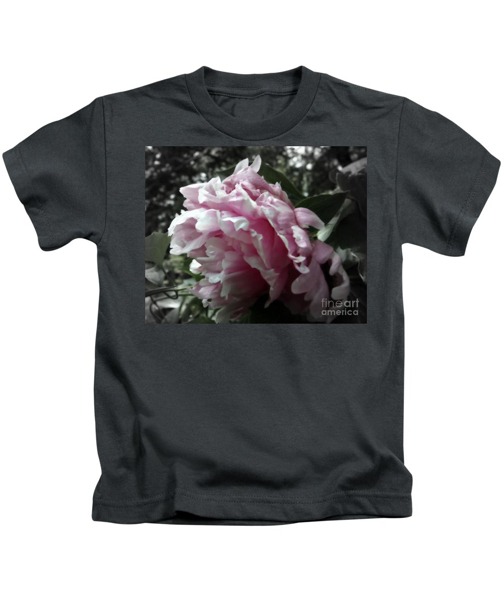 Pink Kids T-Shirt featuring the photograph Pink Flower by Sophia Tallant