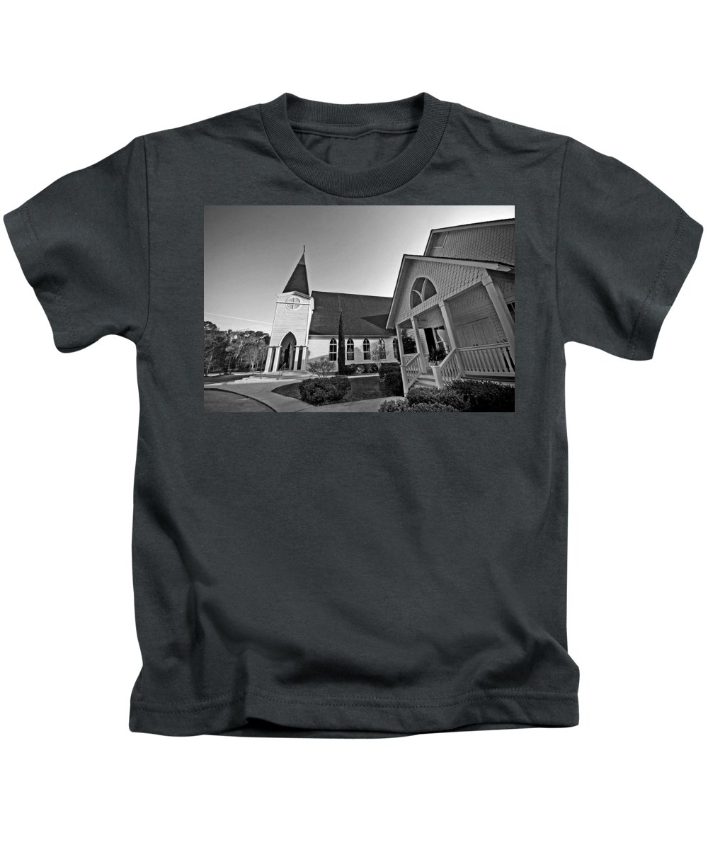 Church Kids T-Shirt featuring the painting Point Clear Alabama St. Francis Church by Michael Thomas