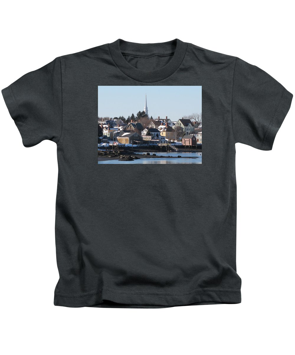 Kids T-Shirt featuring the photograph Portsmouth, New Hampshire by John Rodgers
