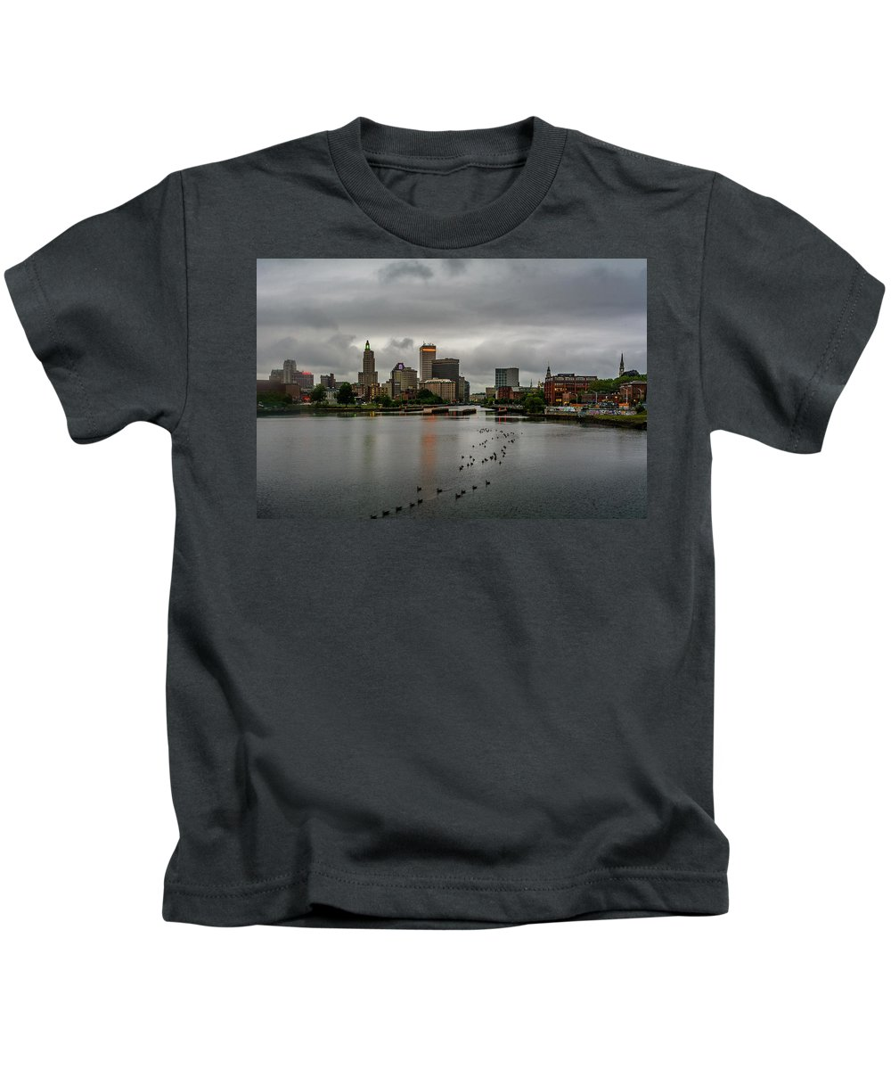 City Kids T-Shirt featuring the photograph Providence, Ri by Victor Dossantos