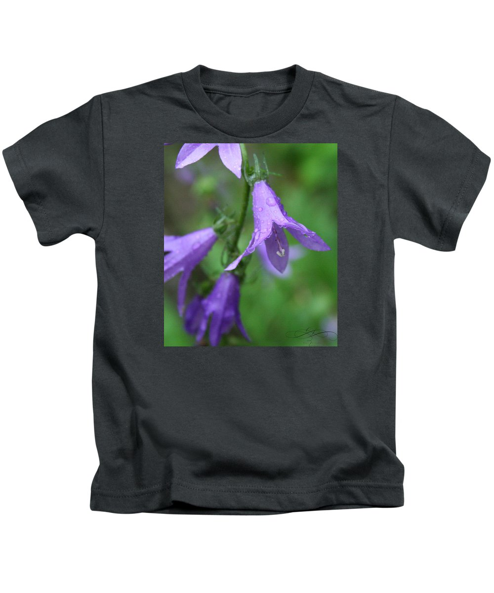 Floral Kids T-Shirt featuring the photograph Purple Flower by Dawn Whiteaker