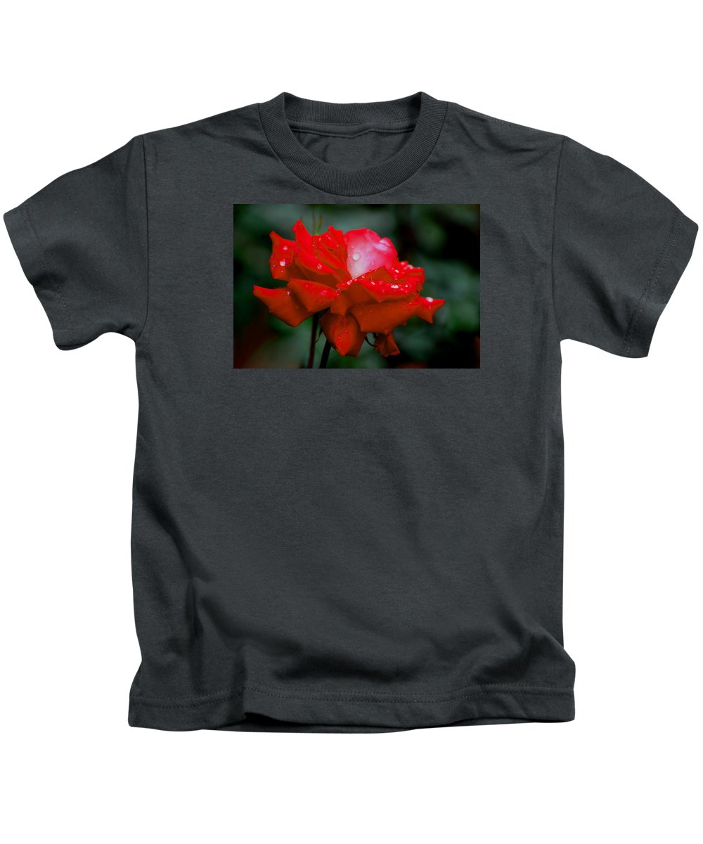Roses Kids T-Shirt featuring the photograph Rained Upon by Living Color Photography Lorraine Lynch