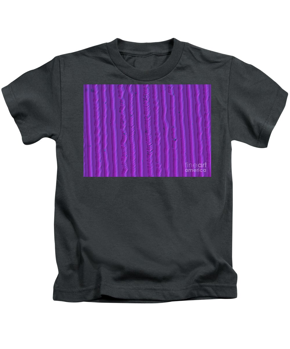 Colored Kids T-Shirt featuring the photograph Record Grooves, Sem by Ted Kinsman