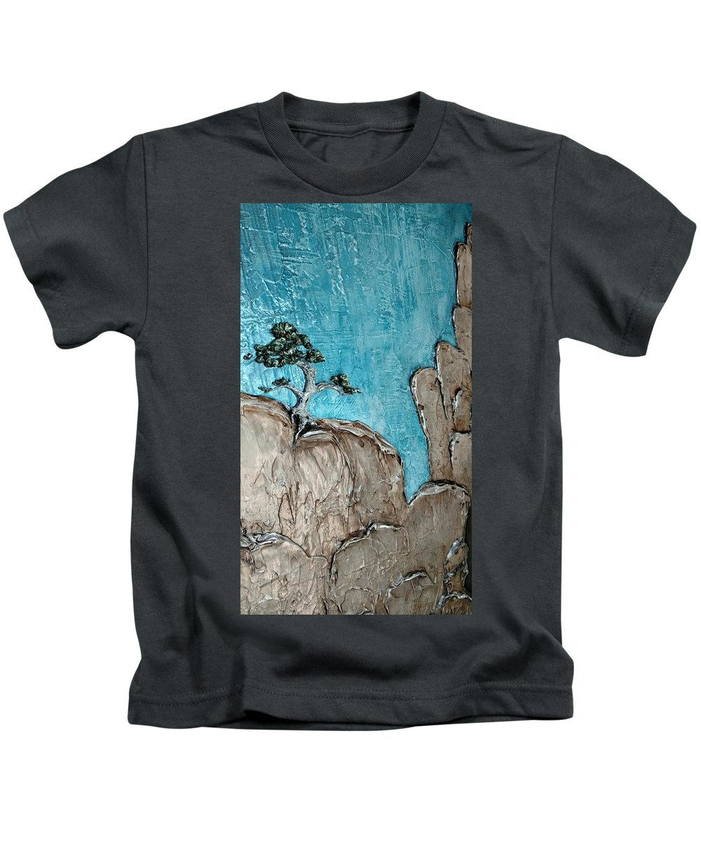 Landscape Kids T-Shirt featuring the painting Resurgence- Option D, Indoor Lighting by Aeryn Lyte