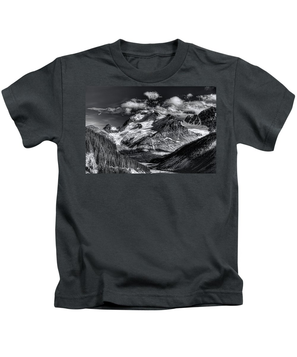 Canada Kids T-Shirt featuring the photograph Rocky Mountain High by Wayne Sherriff
