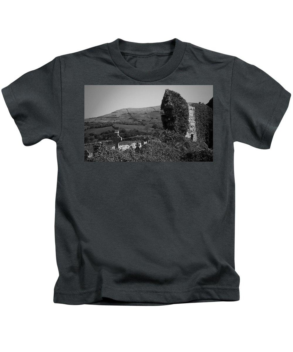 Irish Kids T-Shirt featuring the photograph Ruins In The Burren County Clare Ireland by Teresa Mucha