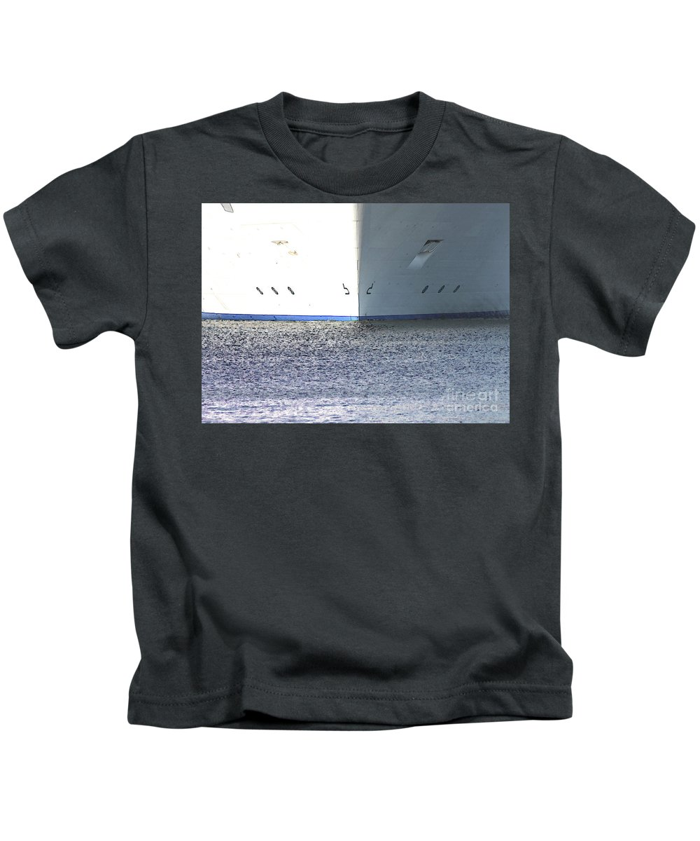 Ship Kids T-Shirt featuring the photograph Smooth Sailing by Carol Groenen
