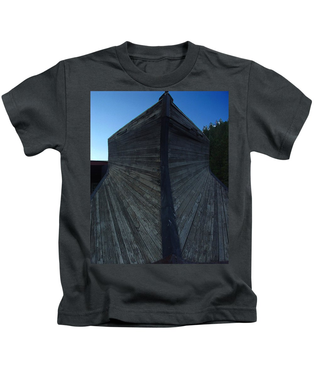 Train Kids T-Shirt featuring the photograph Snow Plow by Peter Piatt