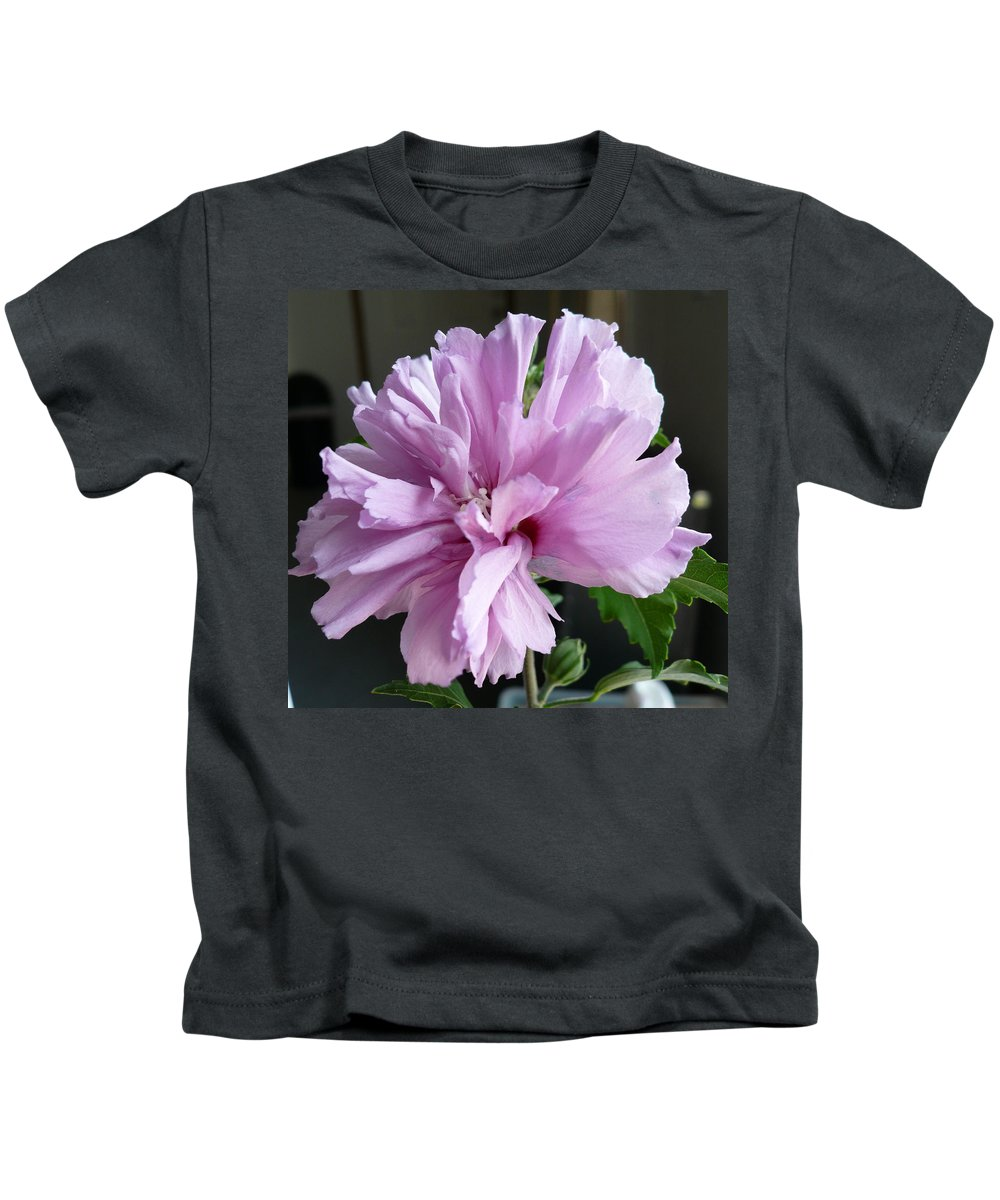 Phoyography.hibiscus Flower Floral Bloom Bush Pink Kids T-Shirt featuring the photograph So Pink by Karin Dawn Kelshall- Best