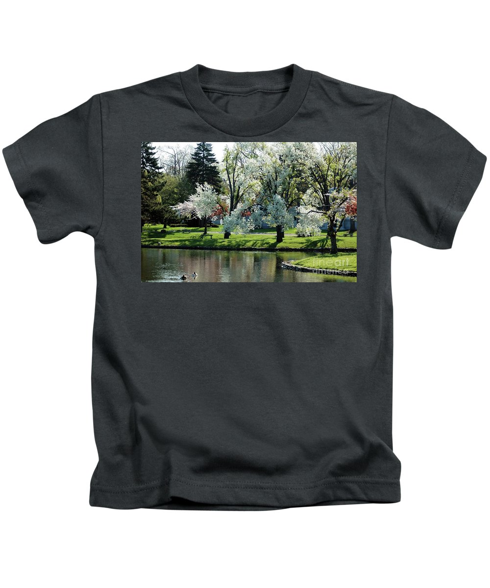 Blooming.spring Kids T-Shirt featuring the photograph Spring Blossoms by Kathleen Struckle