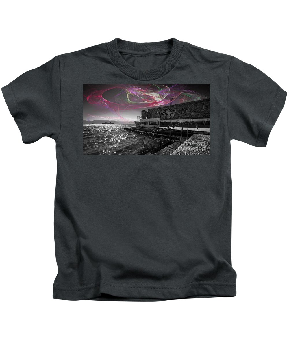 Nafplion Kids T-Shirt featuring the photograph Steps To The Sea by Rob Hawkins