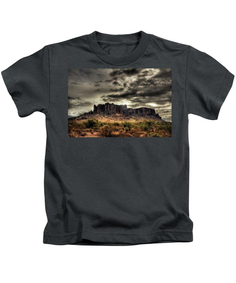 Arizona Kids T-Shirt featuring the photograph Stormy Morning by Saija Lehtonen