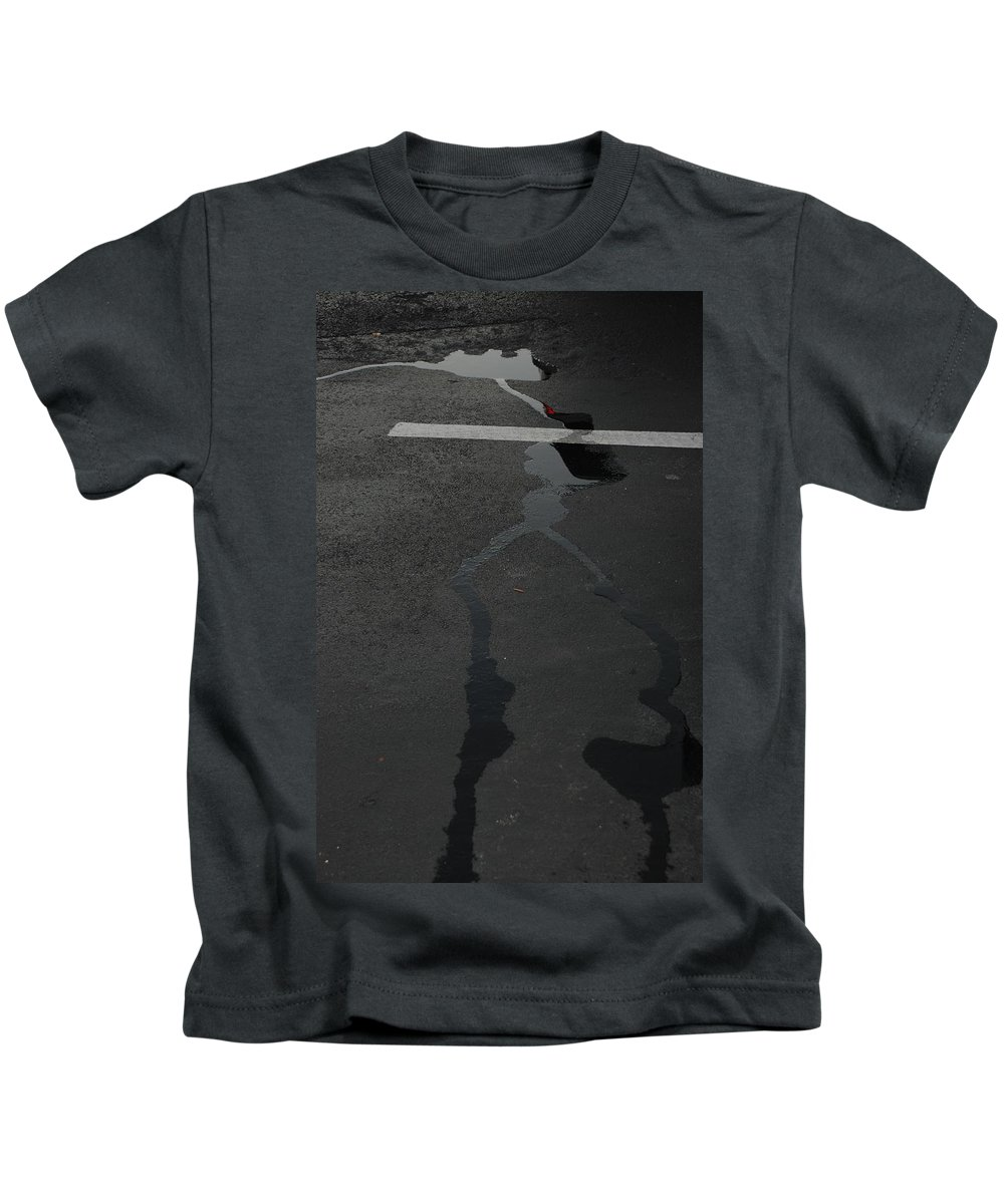 Water Kids T-Shirt featuring the photograph Streams In The Lot by Rob Hans