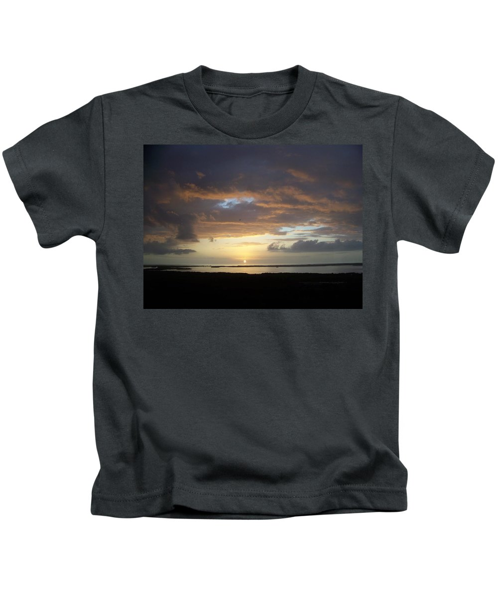 Sunset Kids T-Shirt featuring the photograph Sunset 0020 by Laurie Paci
