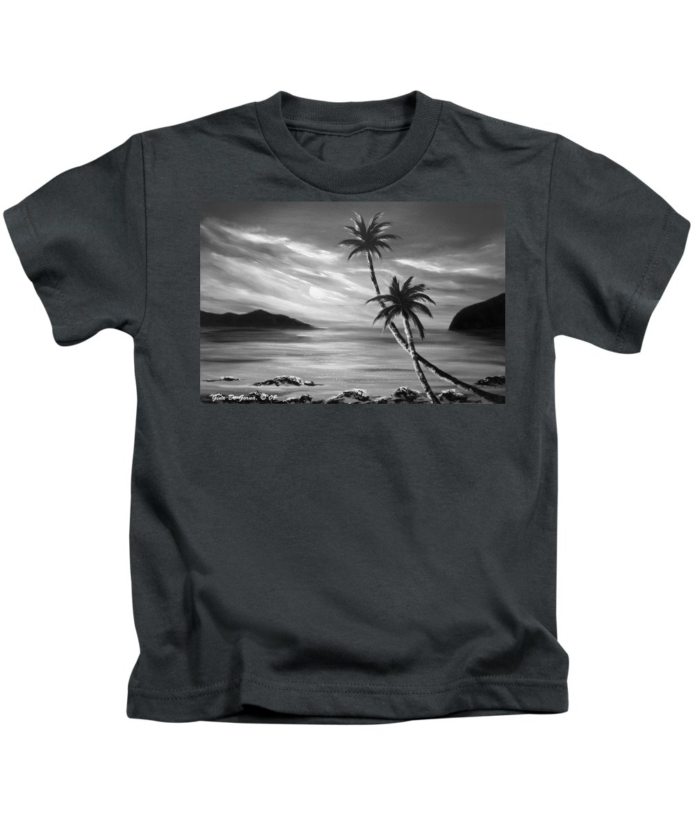 Sunset Kids T-Shirt featuring the painting Sunset in Paradise by Gina De Gorna