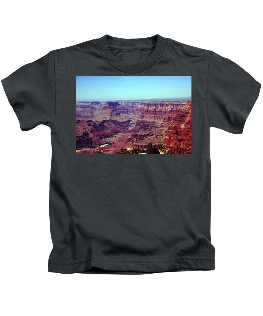 Grand Canyon Kids T-Shirt featuring the photograph The Colorado River by Susanne Van Hulst
