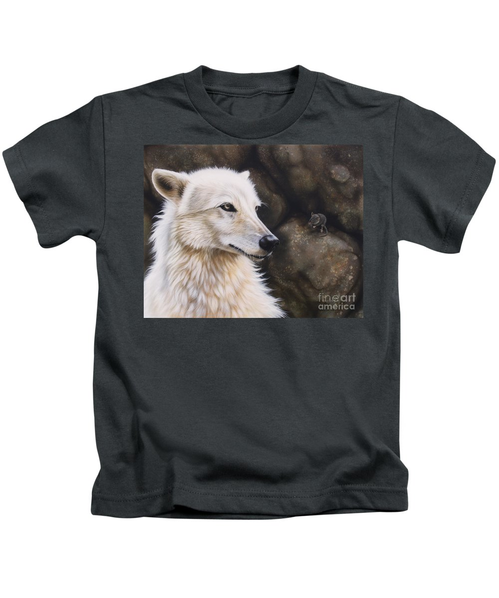 Acrylic Kids T-Shirt featuring the painting The Mouse by Sandi Baker