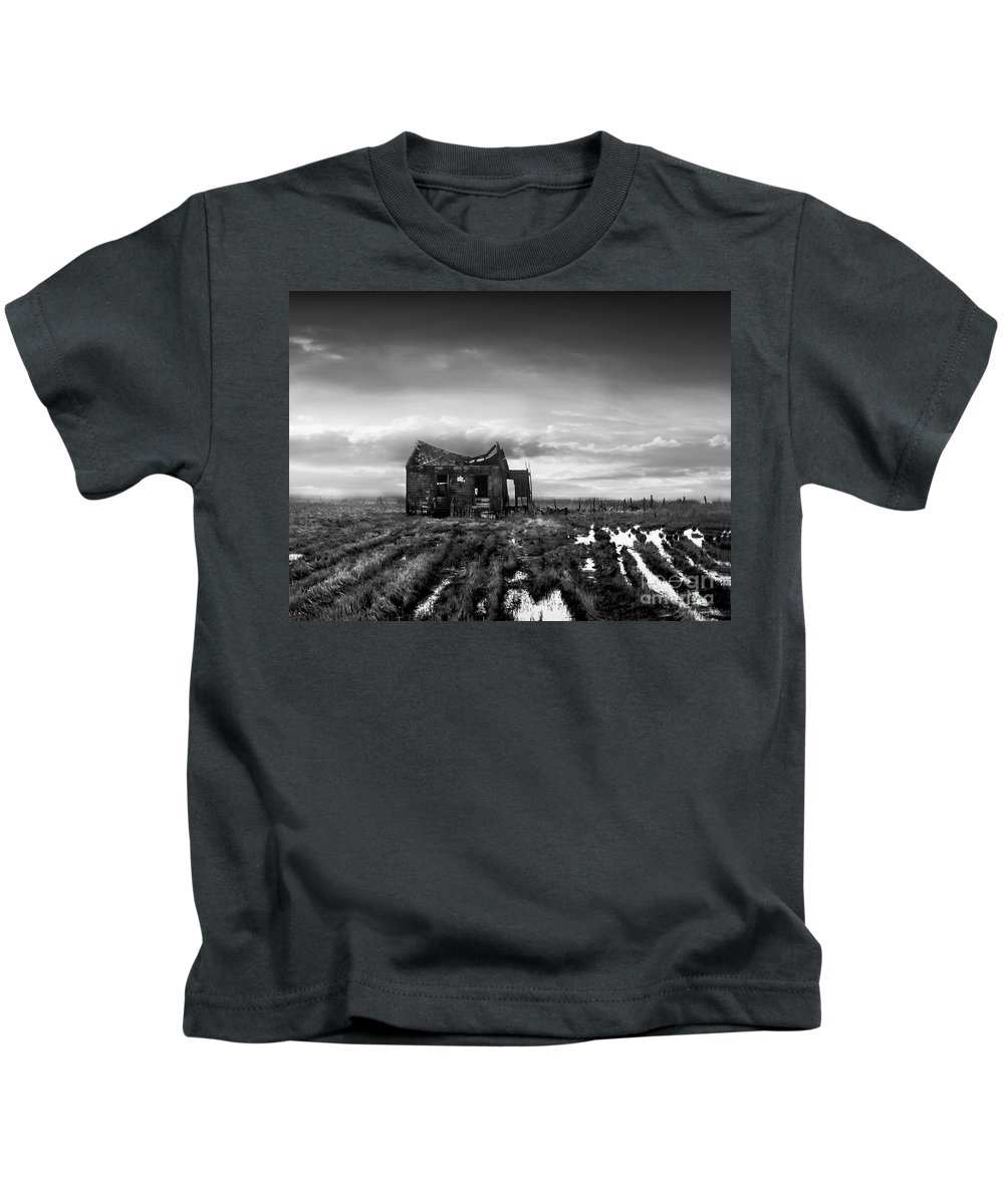 Architecture Kids T-Shirt featuring the photograph The Shack by Dana DiPasquale