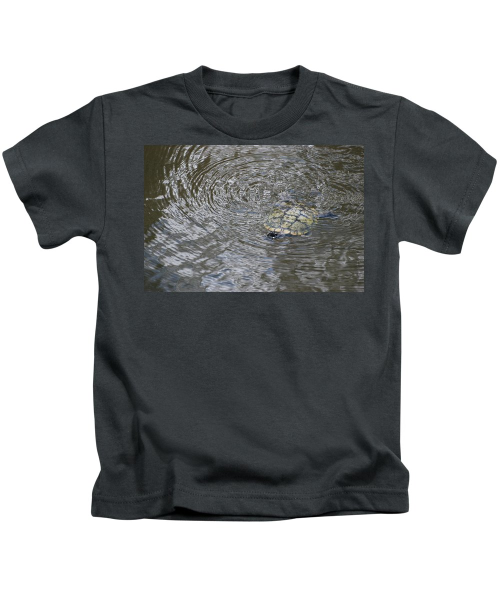 Water Kids T-Shirt featuring the photograph The Swimming Turtle by Rob Hans