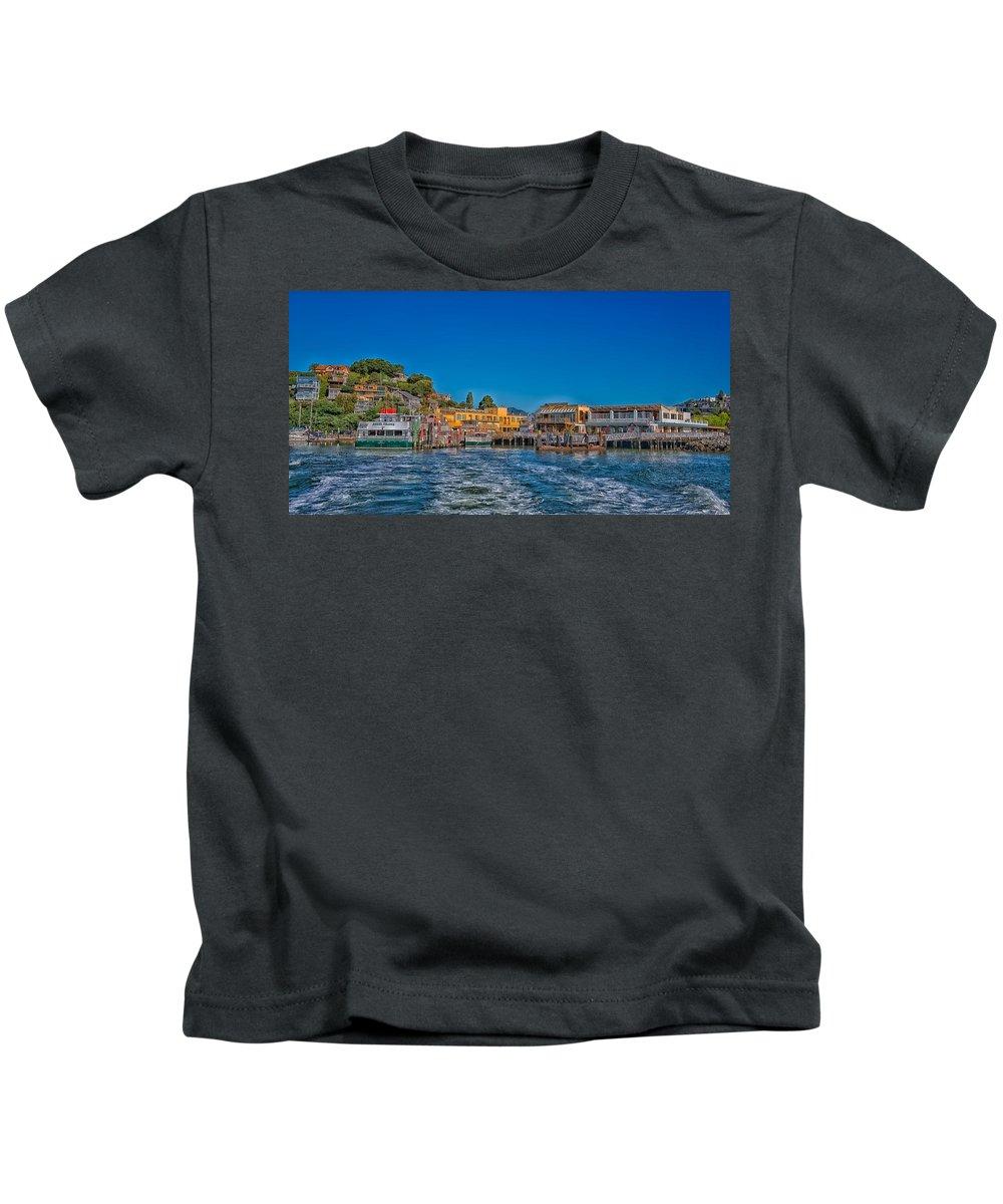 Tiburon Kids T-Shirt featuring the photograph Tiburon Waterfront by Mountain Dreams