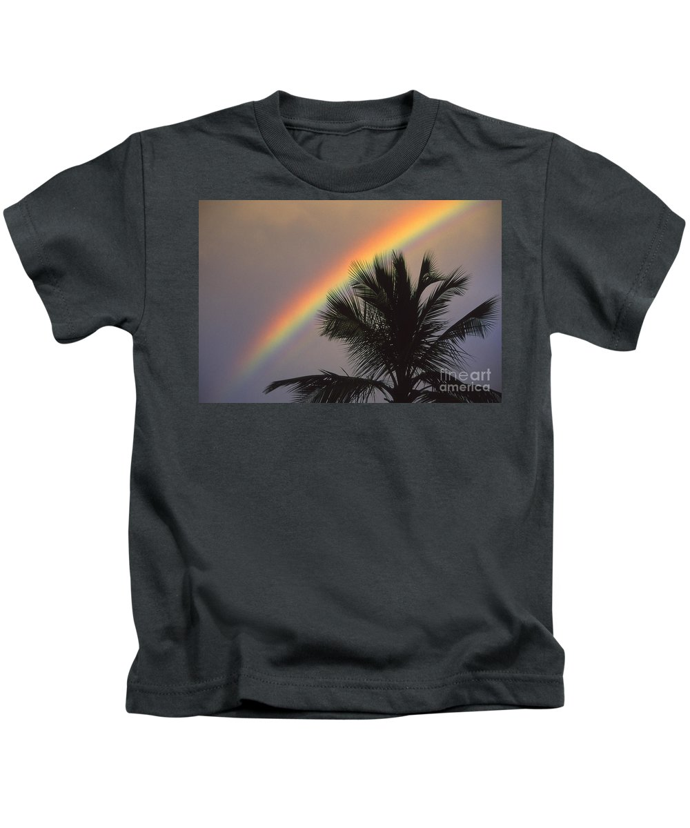 Afternoon Kids T-Shirt featuring the photograph Top Of A Palm Tree by Ron Dahlquist - Printscapes