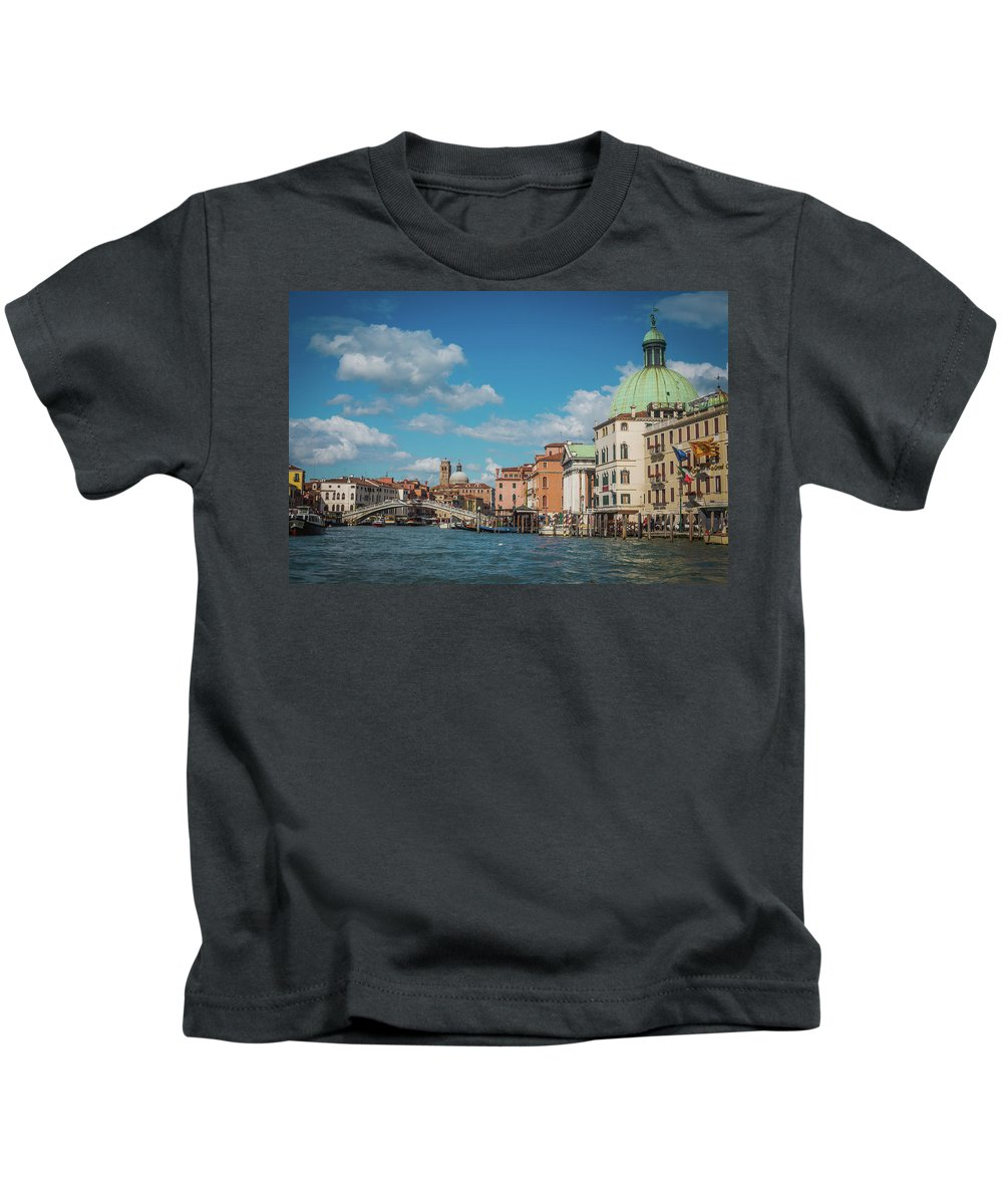 Italy Kids T-Shirt featuring the photograph Venice Panorama by Anastacia Petropavlovskaja