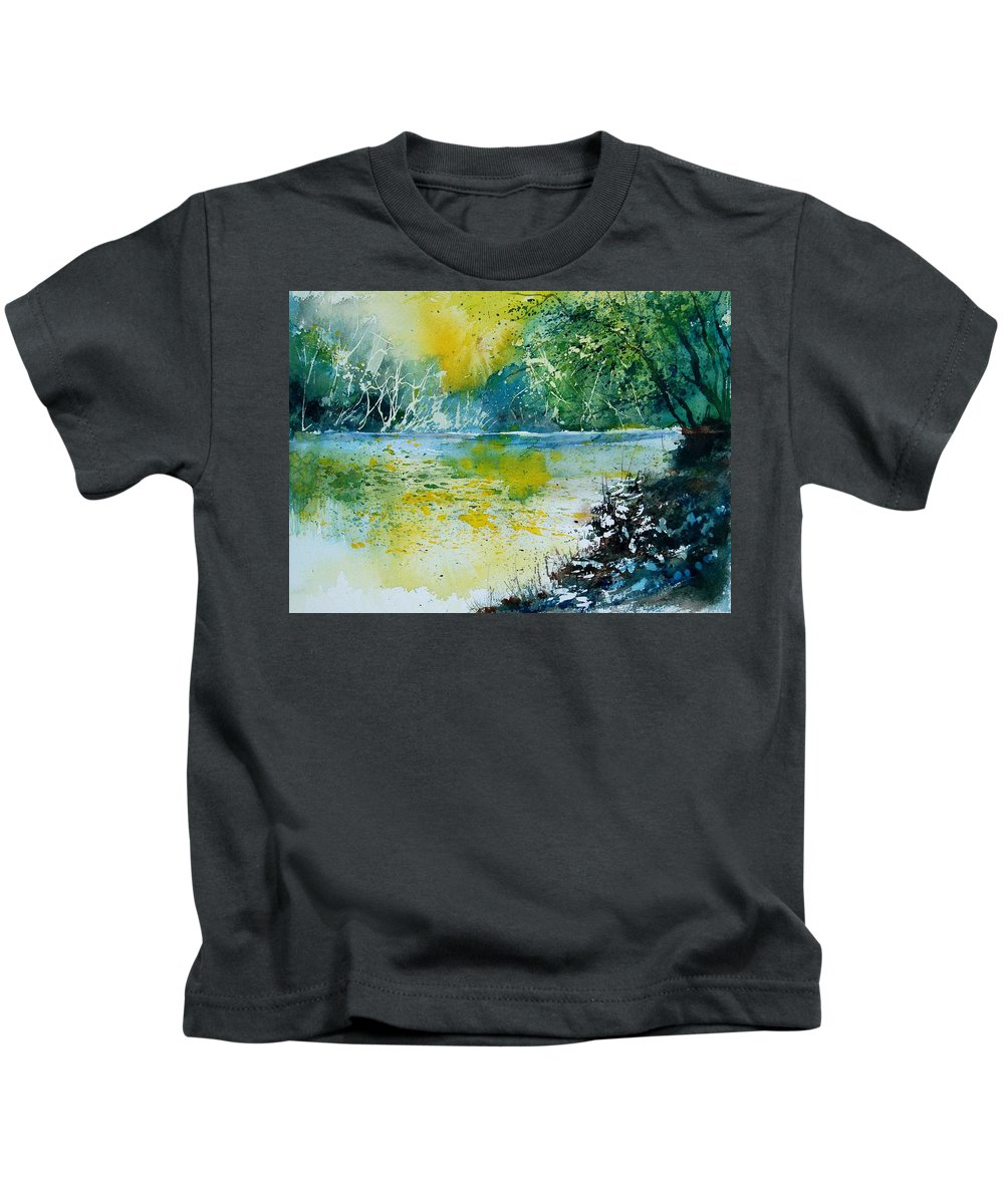 Water Kids T-Shirt featuring the painting Watercolor 051108 by Pol Ledent