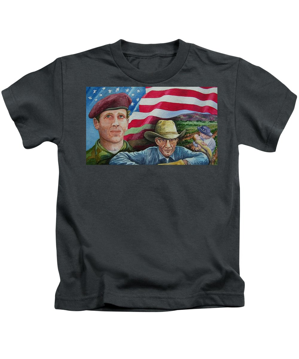 Soldier Kids T-Shirt featuring the painting We Hold These Truths by Gale Cochran-Smith