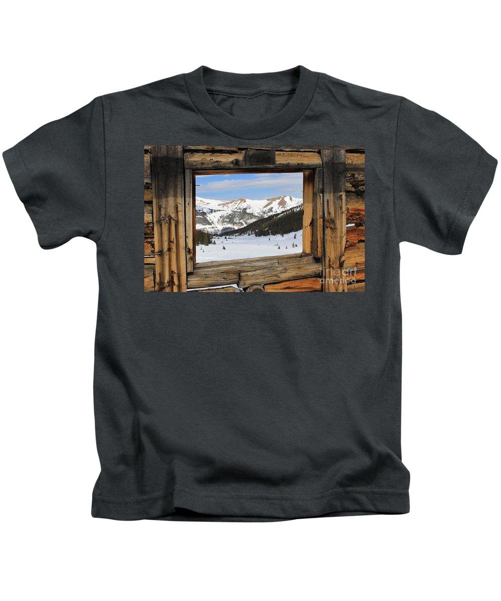 Nature Kids T-Shirt featuring the photograph Winter Window by Tonya Hance