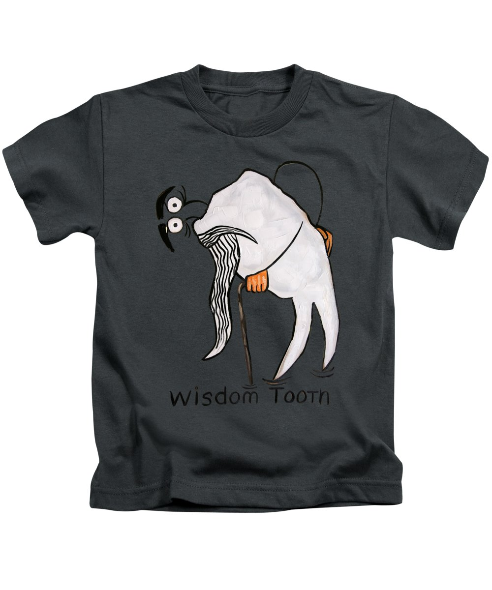 Wisdom Tooth T-shirts Kids T-Shirt featuring the painting Wisdom Tooth by Anthony Falbo