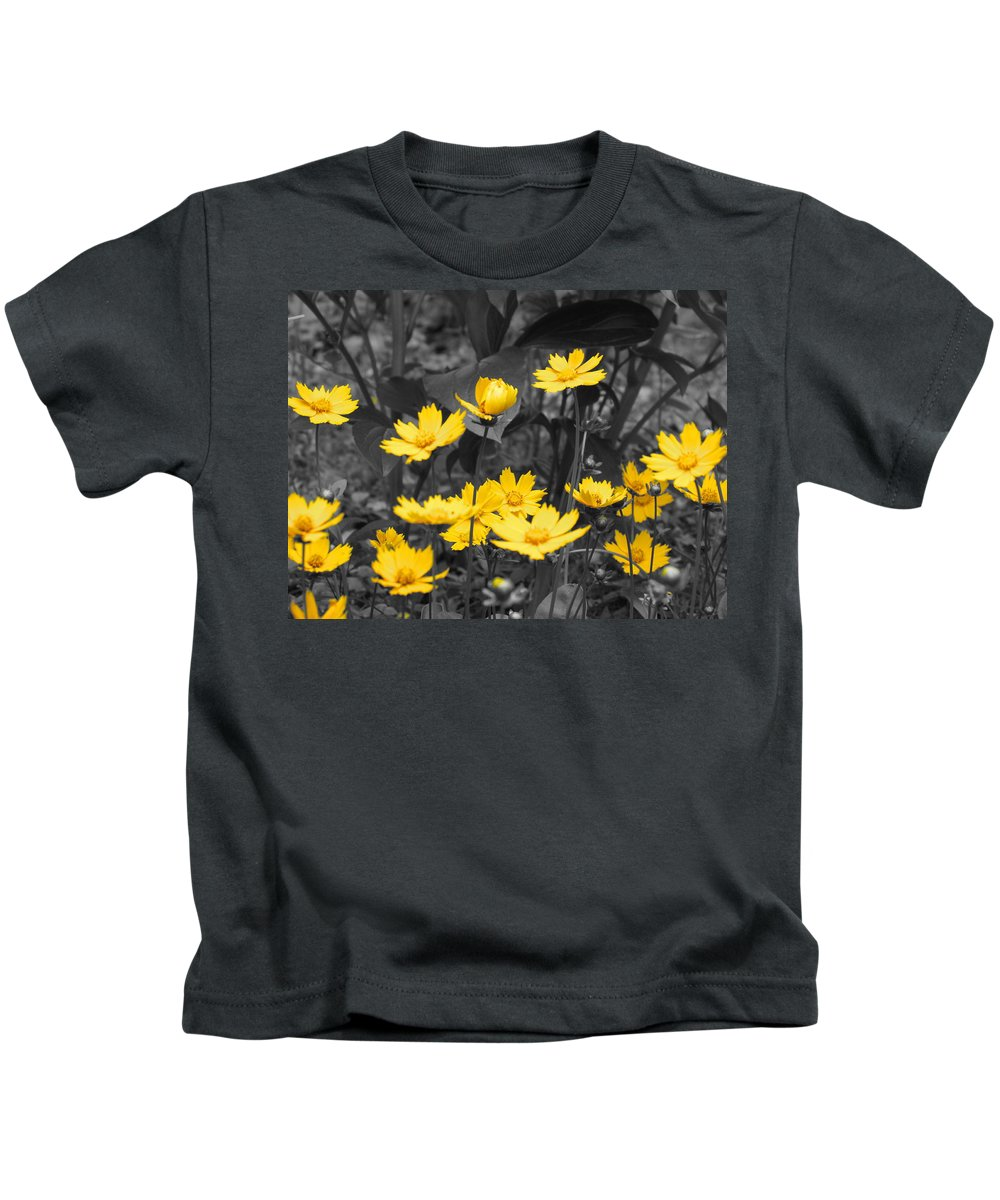 Yellow Kids T-Shirt featuring the photograph Yellow Lust by Ginger Adams