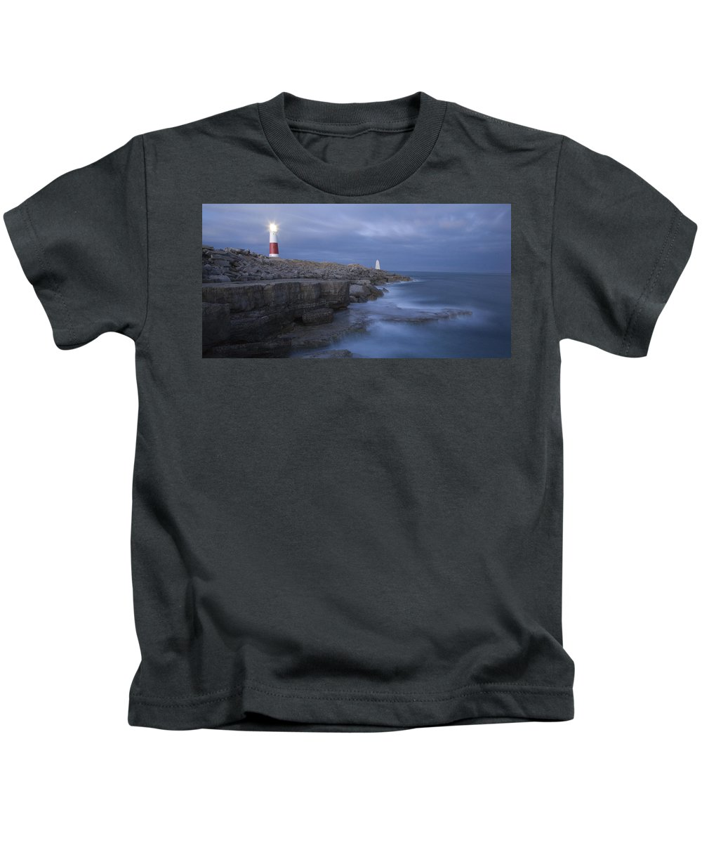 Portland Kids T-Shirt featuring the photograph Portland Bill Seascapes by Ian Middleton
