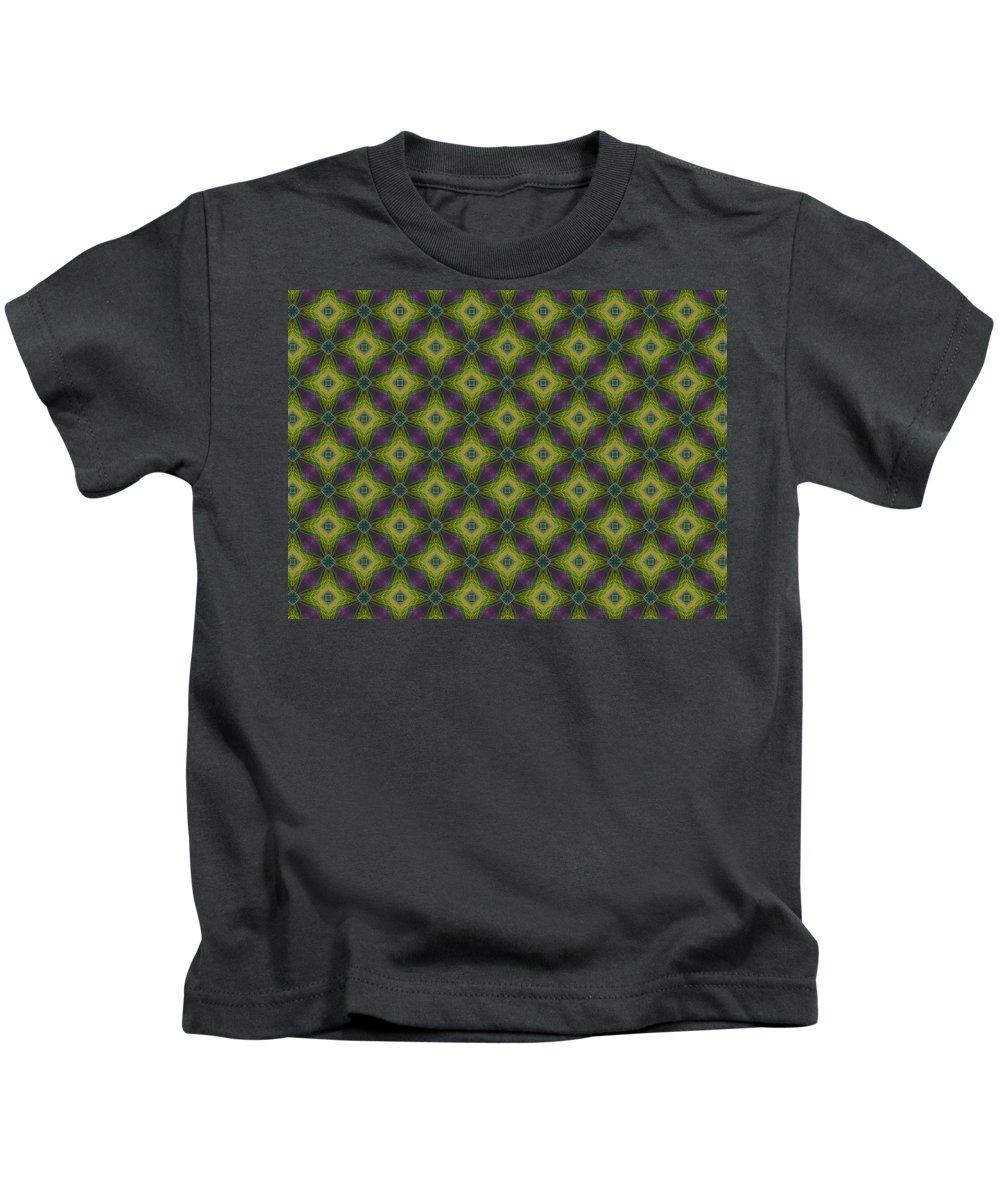 Marjan Mencin Kids T-Shirt featuring the digital art Arabesque 049 by Marjan Mencin
