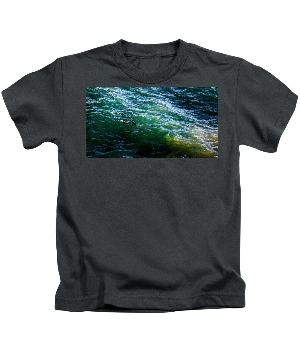 Kids T-Shirt featuring the photograph Ca Bird by Angus Hooper Iii