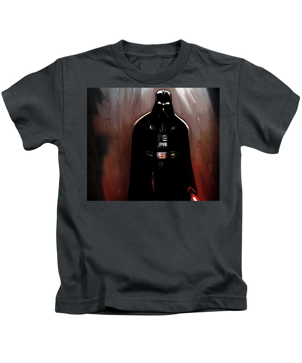 Star Wars Kids T-Shirt featuring the digital art Empire Star Wars Poster by Larry Jones