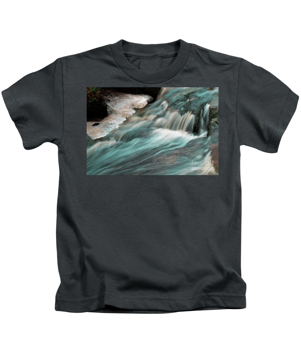 Forest Creek Kids T-Shirt featuring the photograph Rapids by Esko Lindell