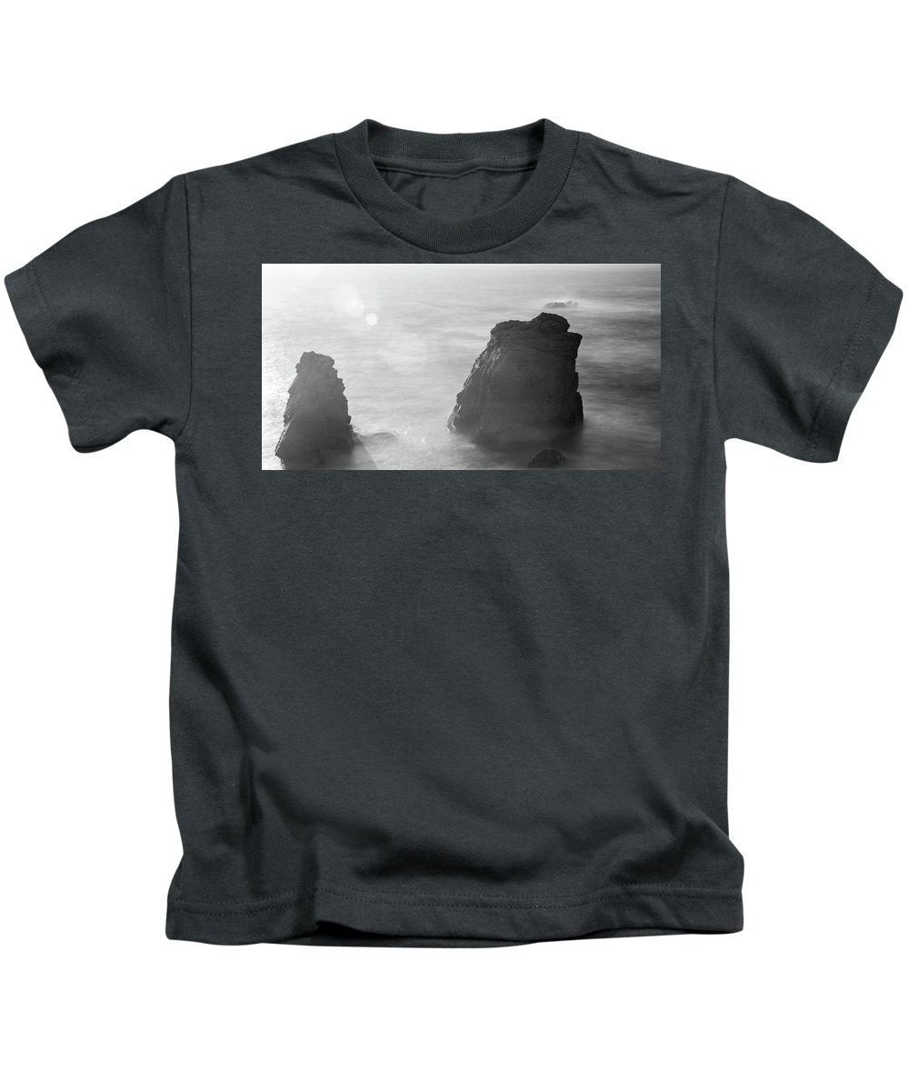 Big Sur Kids T-Shirt featuring the photograph Soberanes Point Big Sur California Sunset by Alex Grichenko