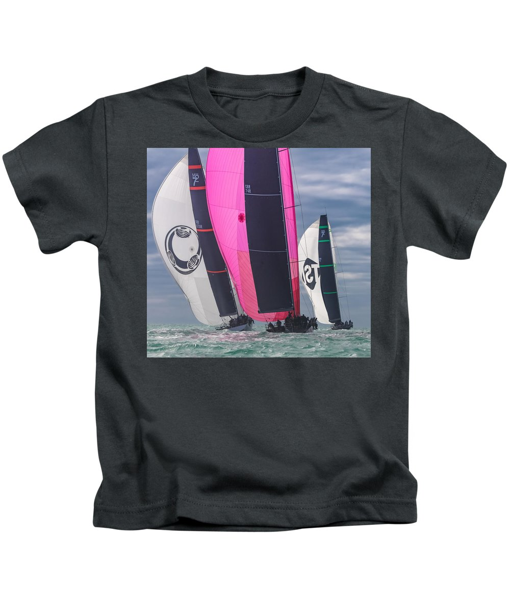 Key Kids T-Shirt featuring the photograph Key West Race Week by Steven Lapkin